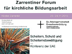 Zarrentiner Forum: Einladung Nov. 2015